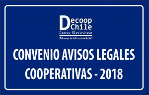 Beneficios del Convenio de Publicaciones Avisos Legales para Cooperativas 2018